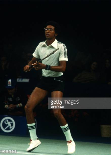 Arthur Ashe playing tennis on January 10 1979 in New York New York