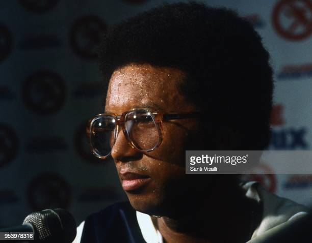Arthur Ashe press conference on January 10, 1979 in New York, New York.
