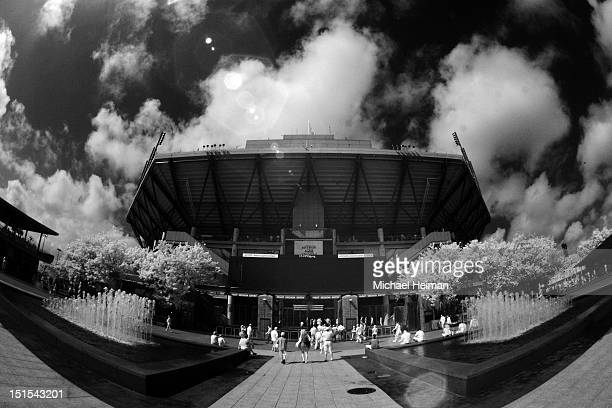 Arthur Ashe Stadium is seen during Day Thirteen of the 2012 US Open at USTA Billie Jean King National Tennis Center on September 8 2012 in the...