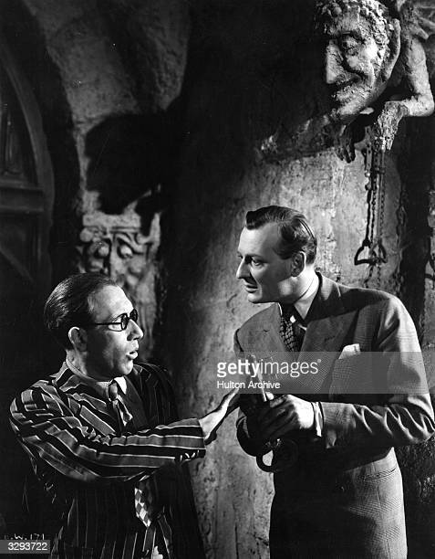Arthur Askey and his comic partner Richard Murdoch star together in the wartime comedy 'Band Wagon' directed by Marcel Varnel for Gainsborough