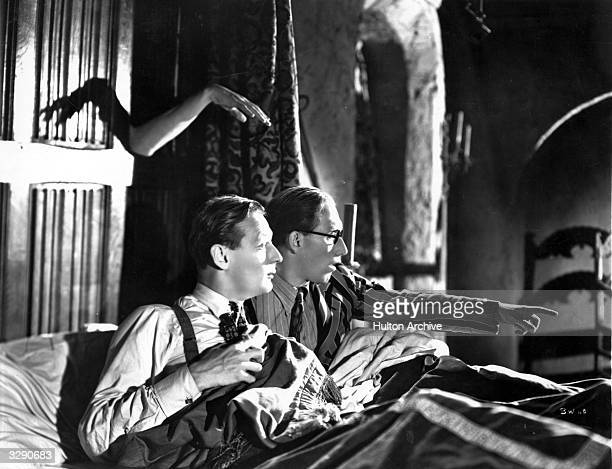 Arthur Askey and Richard Murdoch star in the haunted house comedy 'Band Wagon' directed by Marcel Varnel for Gainsborough