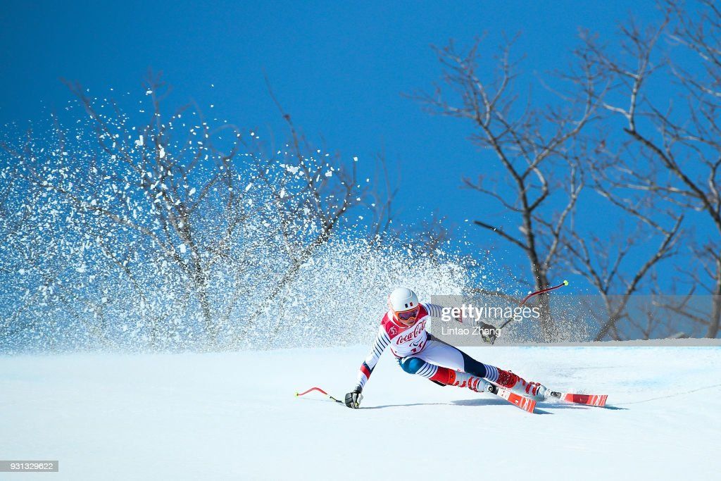 Arthur Bauchet of France competes in the Alpine Skiing - Men's Super-G, Standing at the Jeongseon Alpine Centre during day four of the PyeongChang 2018 Paralympic Games on March 13, 2018 in Pyeongchang-gun, South Korea.