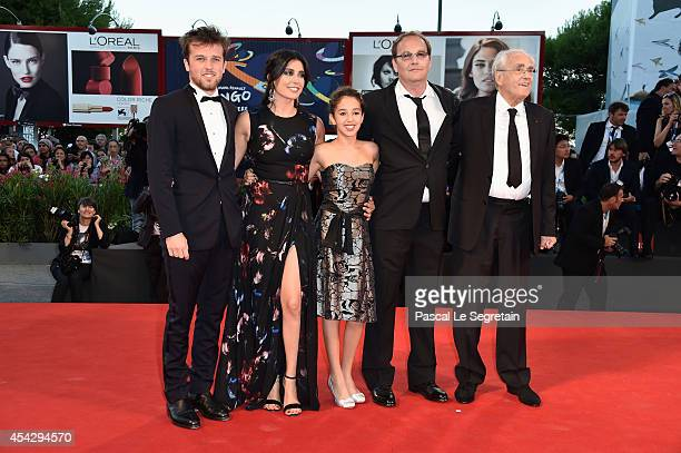 Arthur Beauvois Nadine Labaki Seli Gmach director Xavier Beauvois and Michel Legrand attend the 'La Rancon De La Gloire' premiere during the 71st...