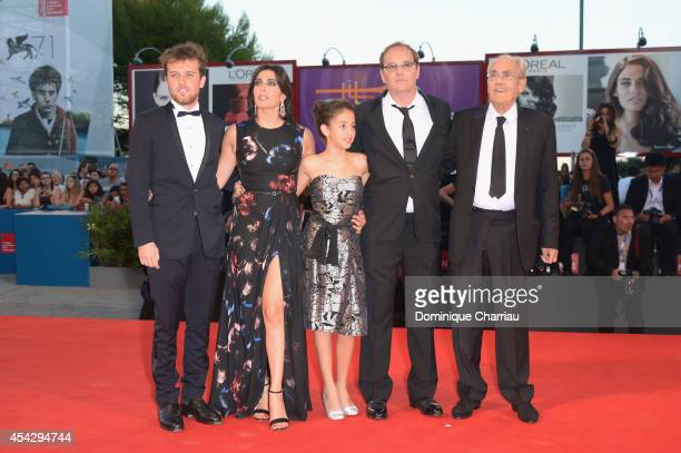 Arthur Beauvois Nadine Labaki Seli Gmach Xavier Beauvois and Michel Legrand attend the 'La Rancon De La Gloire' Premiere during the 71st Venice Film...