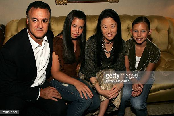 Arthur Becker, Cecelia Becker, Vera Wang and Josephine Becker attend CFDA's Party for New Designers, Hosted by Vera Wang at Residence of Vera Wang...