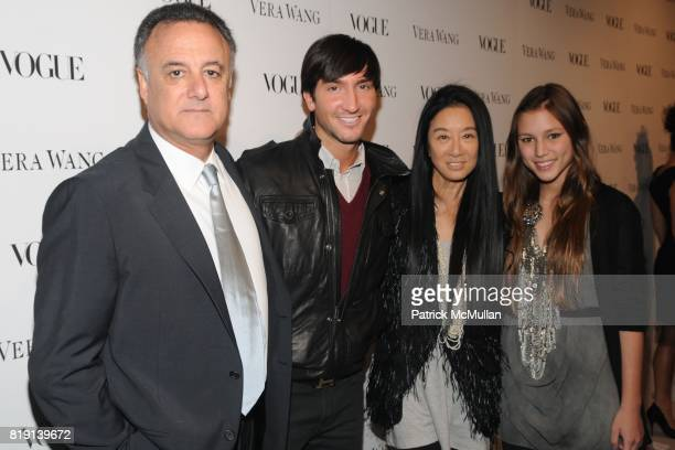 Arthur Becker, Evan Lysacek, Vera Wang and Josephine Becker attend VOGUE Dinner Honoring VERA WANG In Celebration of VERA WANG on Melrose Opening at...