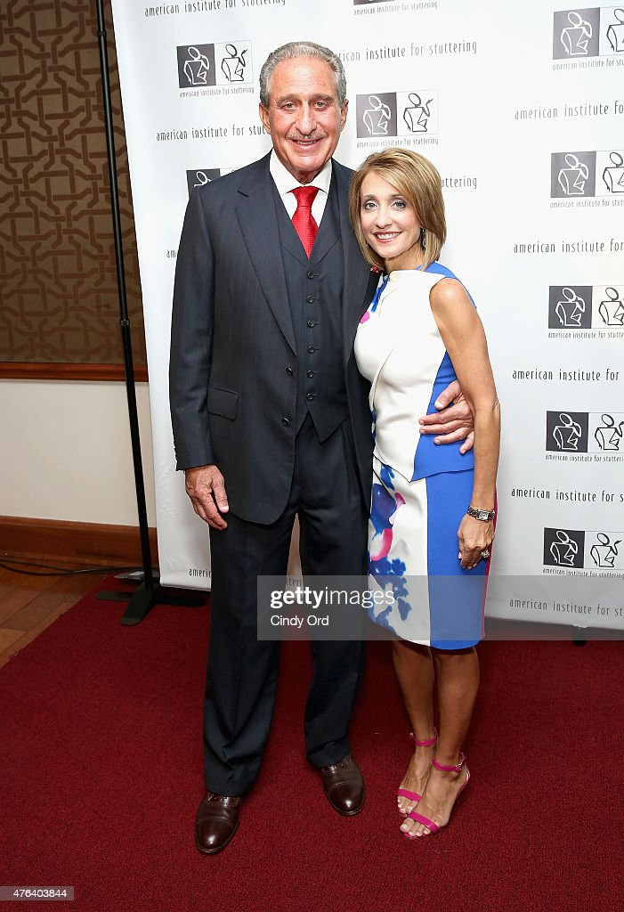 Arthur Blank and Angie Macuga attend American Institute for Stuttering Freeing Voices Changing Lives Gala on June 8, 2015 in New York City.