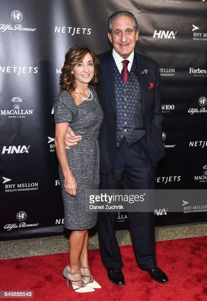 Arthur Blank with wife Angela Macuga attend the Forbes Media Centennial Celebration at Pier 60 on September 19 2017 in New York City