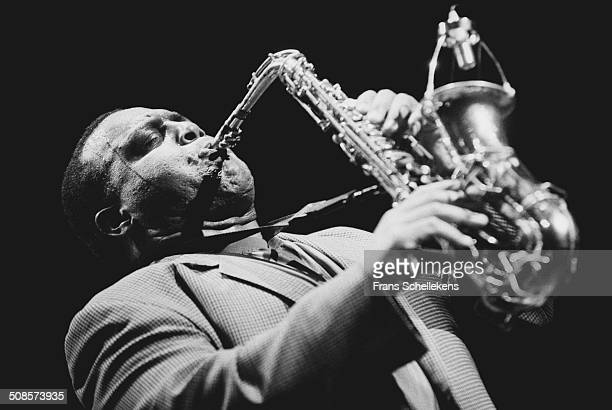 Arthur Blythe, alto saxophone, performs at the jazzmarathon in the Oosterpoort in Groningen, Netherlands on 13th October 1995.