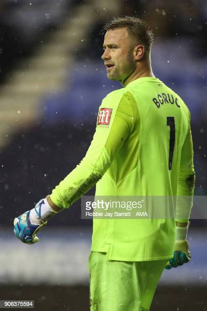 Arthur Boruc of Bournemouth during The Emirates FA Cup Third Round Replay between Wigan Athletic v AFC Bournemouth at DW Stadium on January 17 2018...