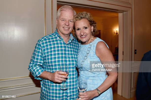 Arthur Brennan and Adrianna Pidwerbetsky attend Katrina and Don Peebles Host NY Mission Society Summer Cocktails at Private Residence on July 7 2017...
