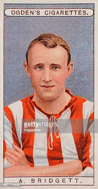 Arthur Bridgett of Sunderland FC featured on a vintage cigarette card published in London circa 1908