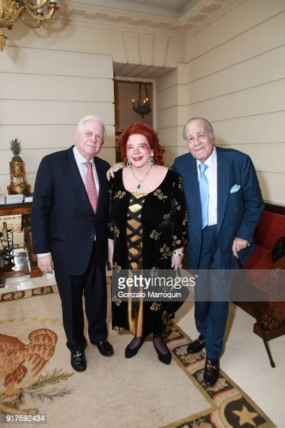 Arthur Brown Baroness von Langendorff and Arthur Thuraya during the Susan Gutfreund Hosts UN Women For Peace Association Reception on February 12...