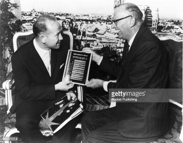 Arthur C Clarke with Leonov Vienna 1968 Arthur Charles Clarke became a leading science fiction writer following a period of work in scientific...