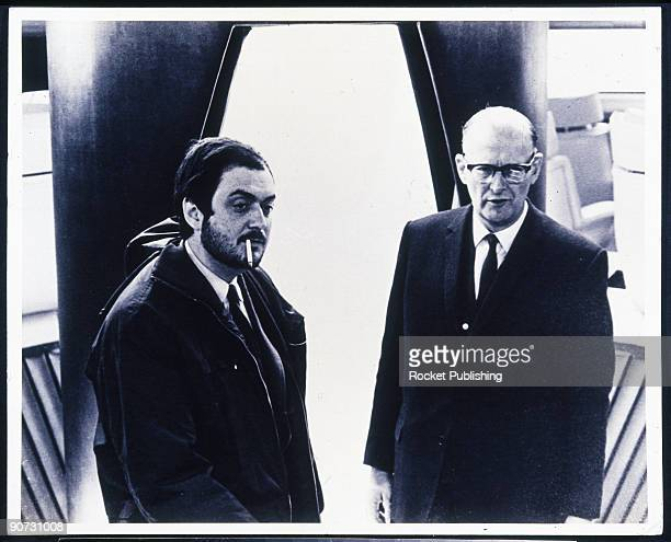 Arthur C Clarke with Stanley Kubrick late 1960s This halflength portrait depicts the two men standing on the set of the classic science fiction film...