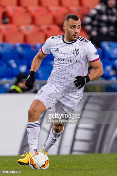 Arthur Cabral of Basel in action during the UEFA Europa League round of 32 second leg match between FC Basel and APOEL Nikosia at St JakobPark on...