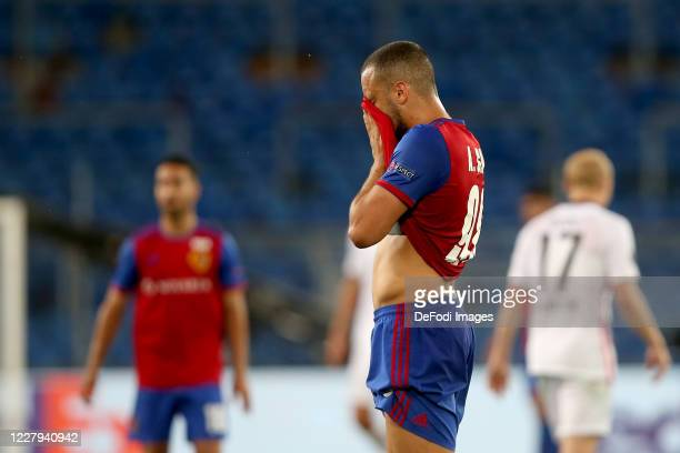 Arthur Cabral of FC Basel 1893 gestures during the UEFA Europa League round of 16 second leg match between FC Basel and Eintracht Frankfurt at St....