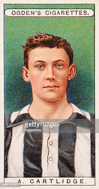 Arthur Cartlidge Bristol Rovers goalkeeper featured on a vintage cigarette card published in London circa 1908