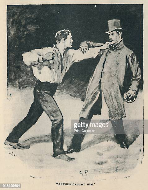 Arthur Caught Him' 1892 Illustration from 'The Adventure of the Beryl Coronet' by Arthur Conan Doyle From The Strand Magazine An Illustrated Monthly...