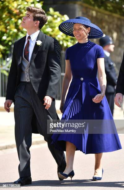 Arthur Chatto and Lady Sarah Chatto attend the wedding of Prince Harry to Ms Meghan Markle at St George's Chapel Windsor Castle on May 19 2018 in...