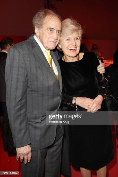Arthur Cohn and Friede Springer attend the Ein Herz Fuer Kinder Gala reception at Studio Berlin Adlershof on December 9 2017 in Berlin Germany