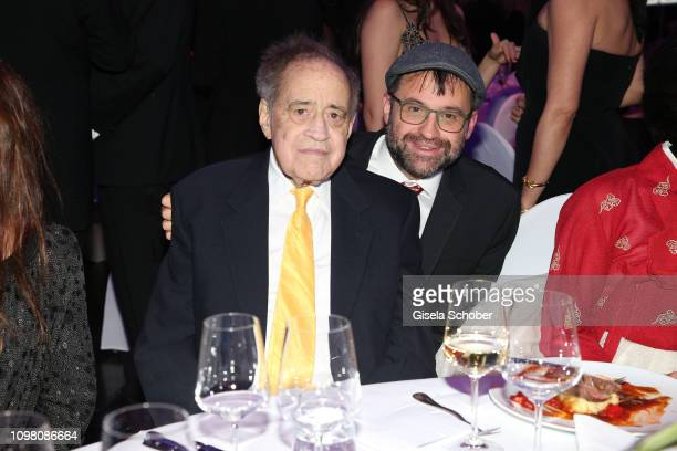 Arthur Cohn and his son Emanuel Cohn during the Cinema for Peace Gala at the Westhafen Event & Convention Center on February 11, 2019 in Berlin,...