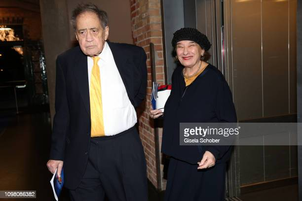 Arthur Cohn and his wife Naomi Cohn during the Cinema for Peace Gala at the Westhafen Event & Convention Center on February 11, 2019 in Berlin,...