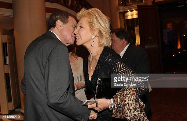 Arthur Cohn and Ute Henriette Ohoven attend the 'Gala Abend mit Arthur Cohn' as part of Filmfest Muenchen 2014 at Gasteig and Dinner at Hotel...