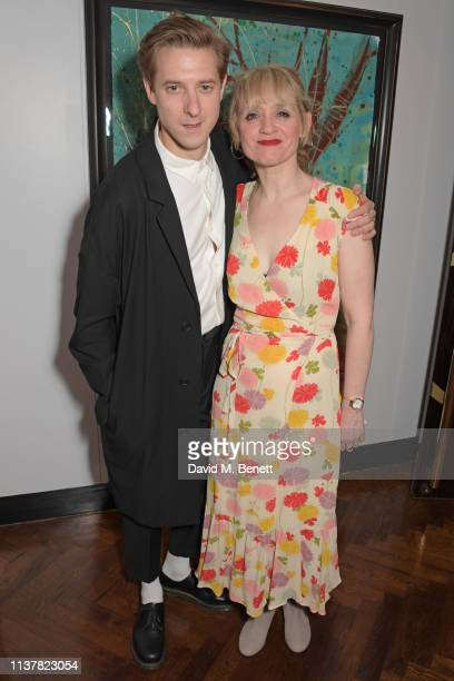 """Arthur Darvill and Anne-Marie Duff attend the press night after party for """"Sweet Charity"""" at The h Club on April 17, 2019 in London, England."""