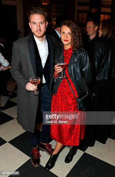 Arthur Darvill and Ines De Clercq attend the launch of The Ned London on April 26 2017 in London England