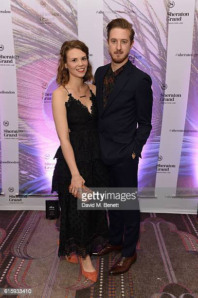 Arthur Darvill and Ines De Clercq attend the Sheraton Grand London Park Lane launch party on October 20 2016 in London England