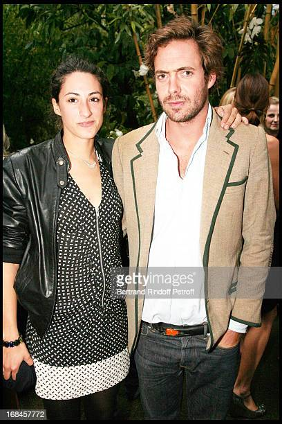 """Arthur de Kersauson and his sister in law India d'Urso at Launch Of John Galliano's New Fragrance """"Number 1"""" In Paris ."""