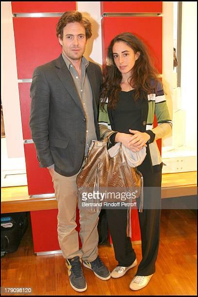 Arthur De Kersauson and wife Clotilde D'Urso at Hogan Boutique Charity Party To Benefit Best Buddies