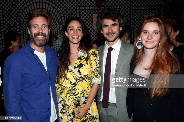 Arthur de Kersauson his wife Clotilde d'Urso Emmanuel de Noailles and Laetizia Bemberg attend Dinner Hosted In Honnour Of Alex Katz At The Art...