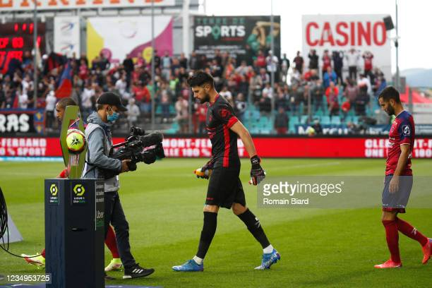 Arthur DESMAR of Clermont during the Ligue 1 Uber Eats match between Clermont and Metz at Stade Gabriel Montpied on August 29, 2021 in...