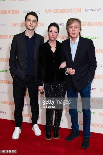 Arthur Donald Mary McCartney and Paul McCartney attend a special screening of My Generation at BFI Southbank on March 14 2018 in London England