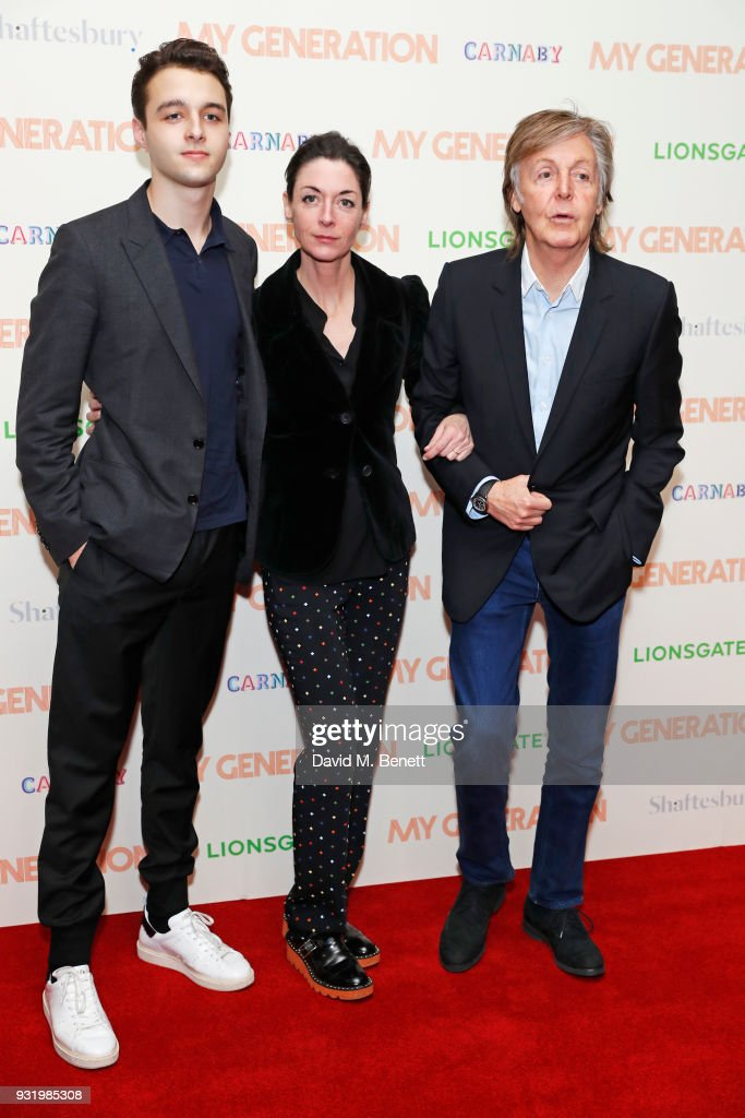 Arthur Donald Mary McCartney And Sir Paul Attend A Special Screening Of My