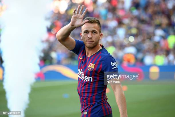 Arthur during the presentation of the team 201819 before the match between FC Barcelona and CA Boca Juniors corresponding to the Joan Gamper trophy...
