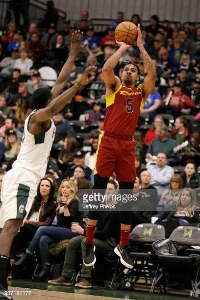 Arthur Edwards of the Canton Charge shoots the ball against the Wisconsin Herd during the NBA GLeague game on March 23 2018 at the Menominee Nation...