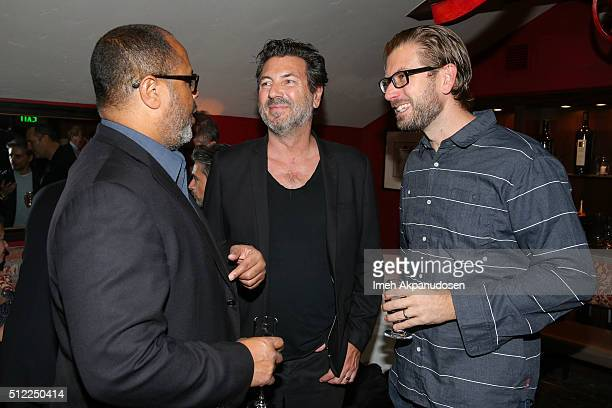 Arthur Forney and Nicolas Neidhardt attend the Imaginarium And SpLAshPR Agency Event at The Little Door on February 24, 2016 in Santa Monica,...