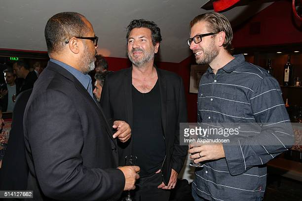 Arthur Forney Nicolas Neidhardt and Guest attend the Imaginarium And SpLAshPR Agency Event at The Little Door on February 24 2016 in Santa Monica...