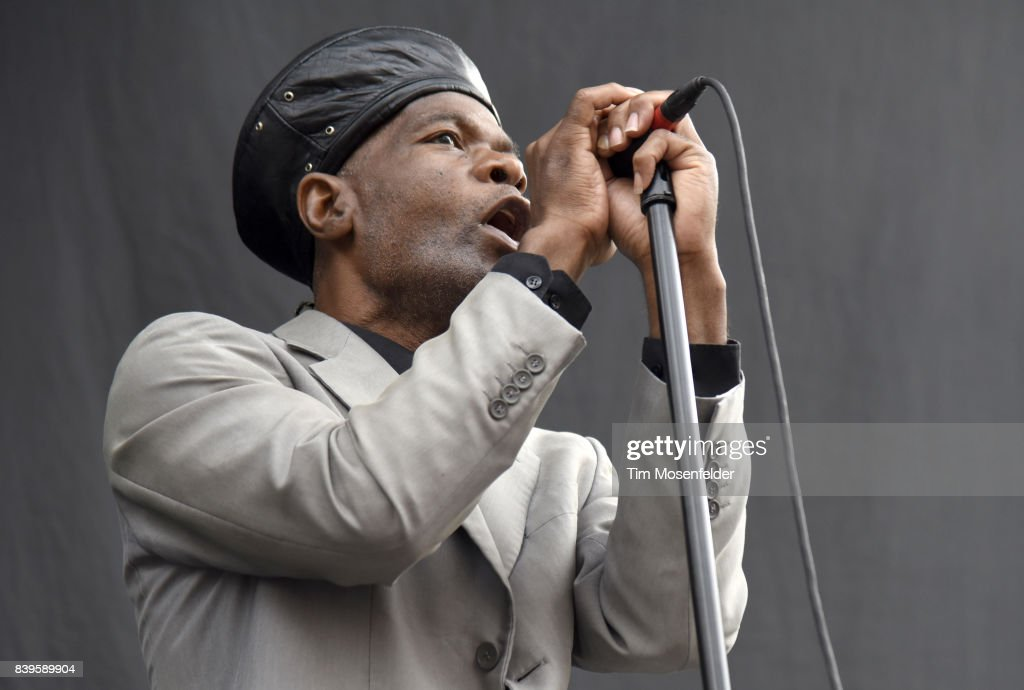 Arthur 'Gaps' Hendrickson of The Selecter performs during the 'From Boston to Berkeley' tour at University of California, Berkeley on August 20, 2017 in Berkeley, California.