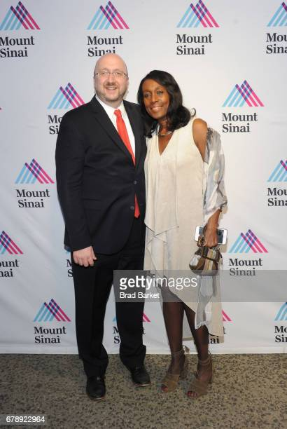 Arthur Gianelli and Sharon Gianelli attend the Mount Sinai Health System 2017 Crystal Party in Central Park Conservatory Garden on May 4 2017 in New...