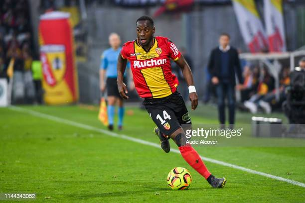 Arthur Gomis of Lens during the Ligue 2 match between Lens and US Orleans at Stade BollaertDelelis on May 17 2019 in Lens France