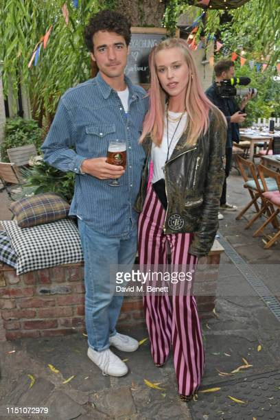 Arthur Guinness and Mary Charteris attend the VIP London launch of the Barbour by ALEXACHUNG collection at The Albion on June 20 2019 in London...