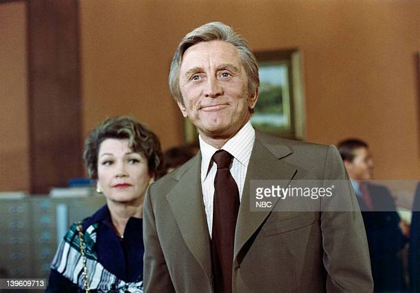 EVENT 'Arthur Hailey's the Moneychangers' Pictured Anne Baxter as Edwina Dorsey Kirk Douglas as Alex Vandervoort Photo by NBC/NBCU Photo Bank via...