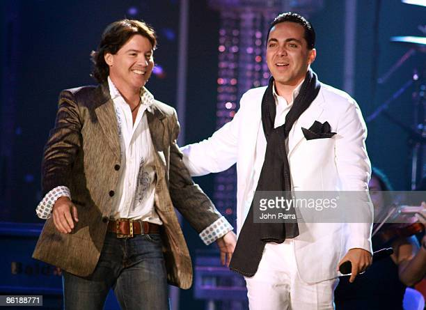 Arthur Hanlon and Cristian Castro perform onstage at the 2009 Billboard Latin Music Awards at Bank United Center on April 23 2009 in Miami Florida