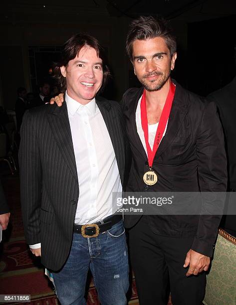 Arthur Hanlon and Juanes arrive at the 16th Annual BMI Latin Music Awards at Breakers Hotel on March 12 2009 in Palm Beach Florida