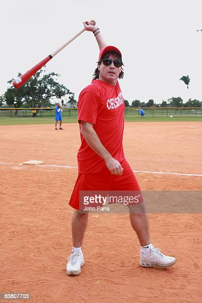 Arthur Hanlon participates in the Osvaldo Rios Celebrity Softball Game To Benefit Amigos For Kids at Grapeland Water Park on November 23 2008 in Miami