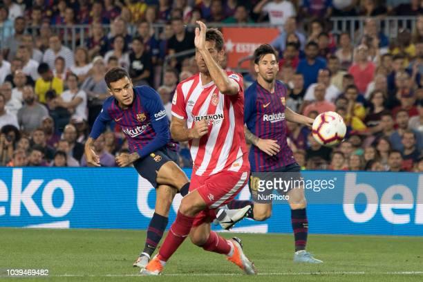 Arthur Henrique Ramos de Oliveira Melo during the spanish league La Liga match between FC Barcelona and Girona FC at Camp Nou Stadium in Barcelona,...